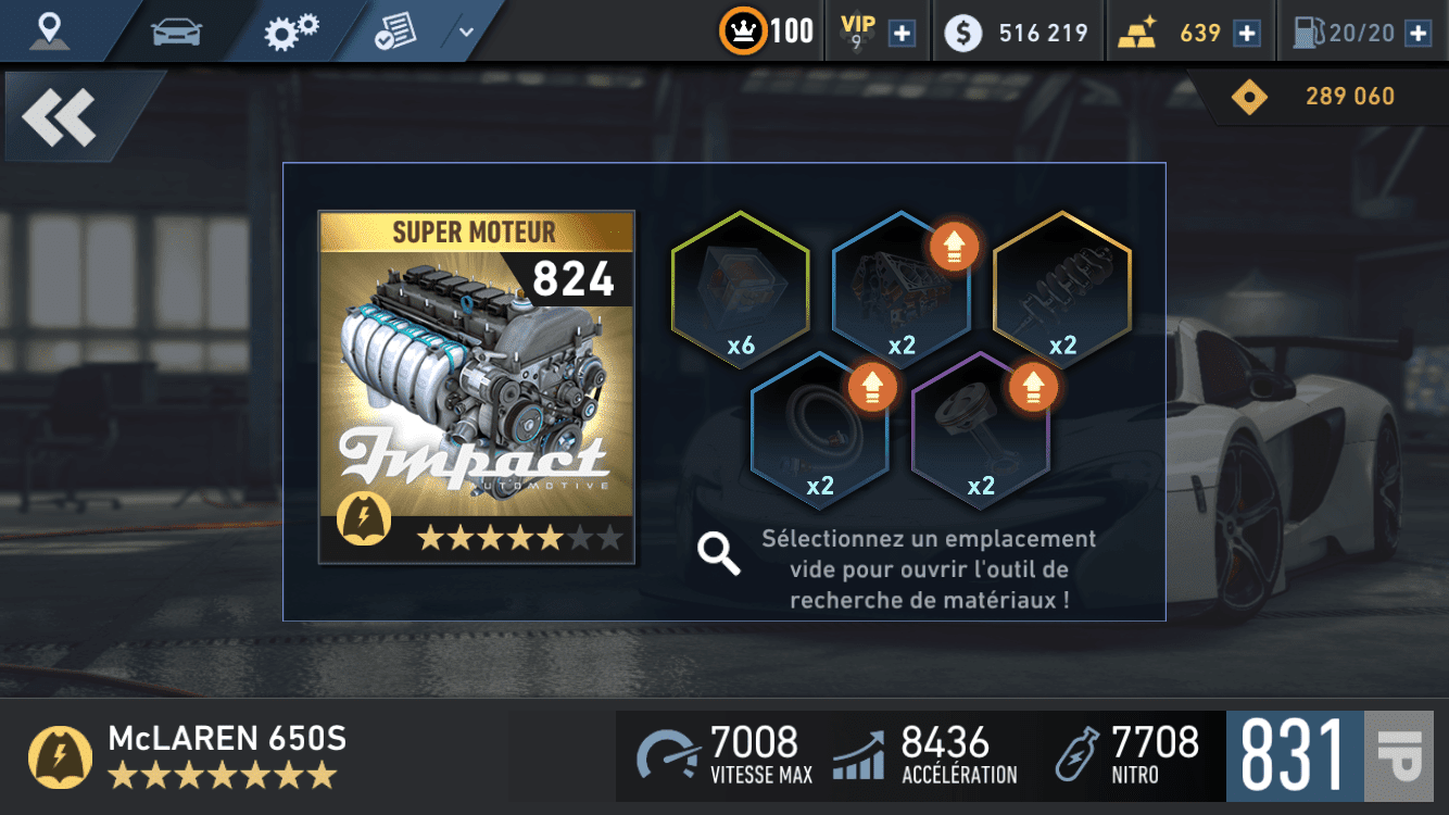 NFS: No limits upgrade stuff