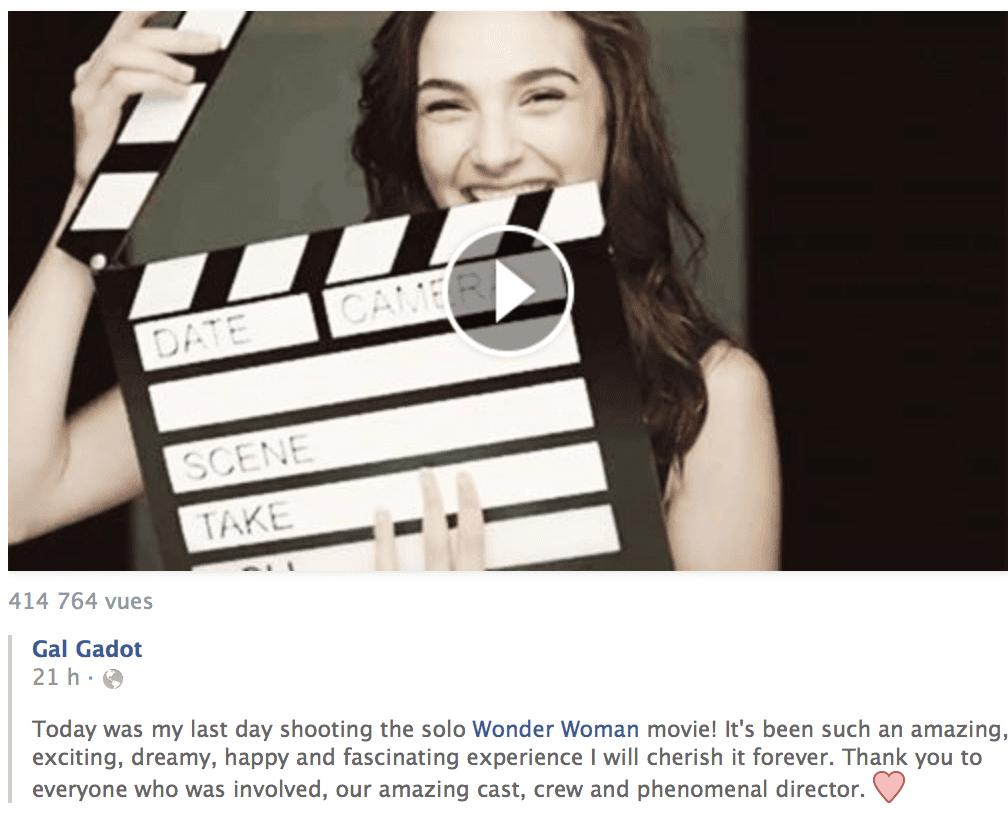 Screenshot Facebook Wonder Woman Gal Gadot News My Geek Actu.png