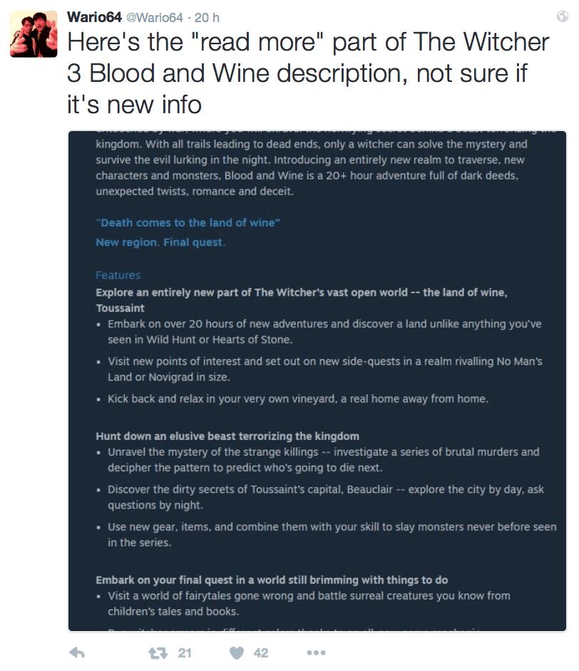 Screenshot Wario64 The Witcher III Wine and Blood News My Geek Actu.png