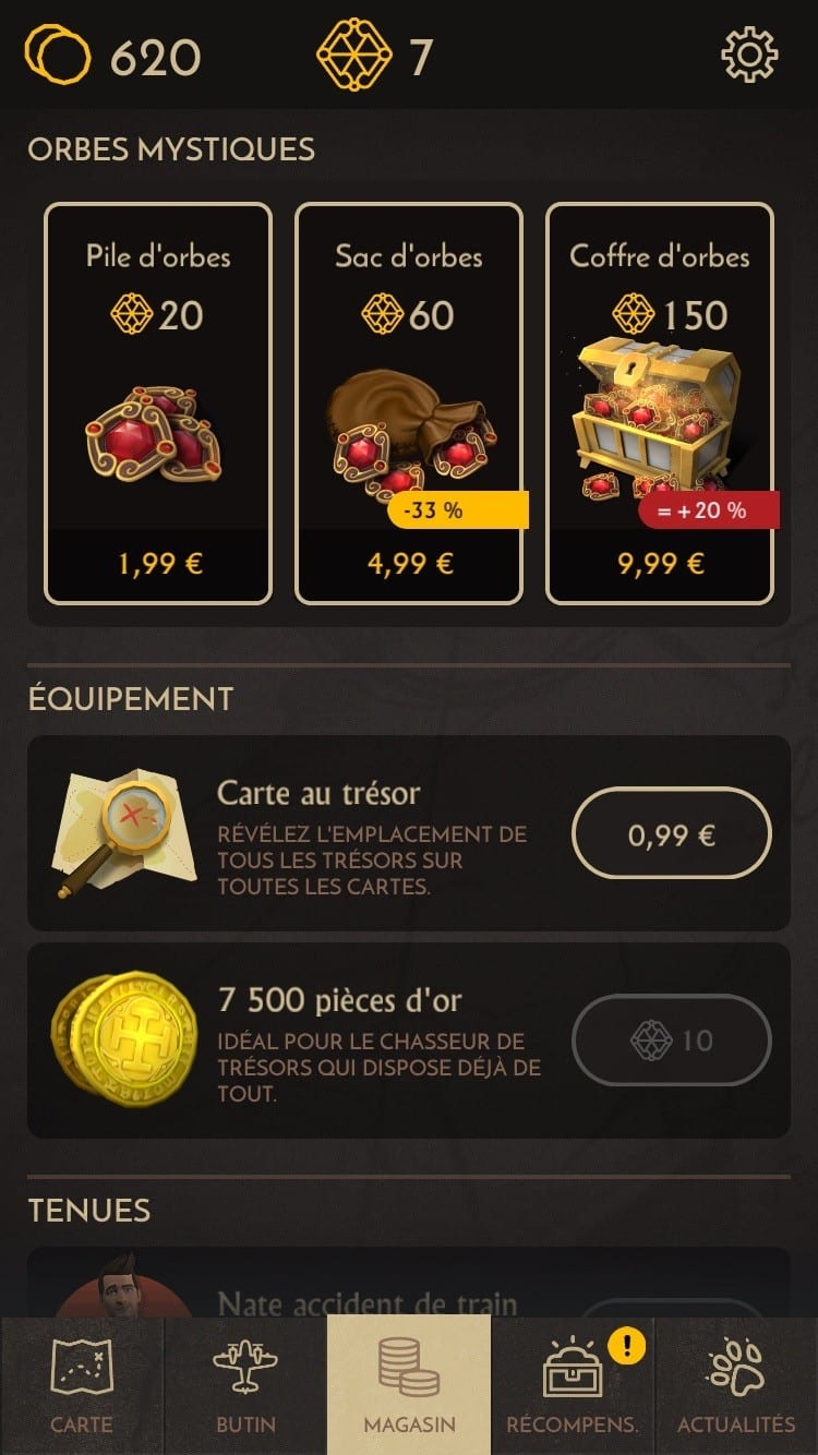 Uncharted Fortune Hunter iOS Test My Geek Actu 7