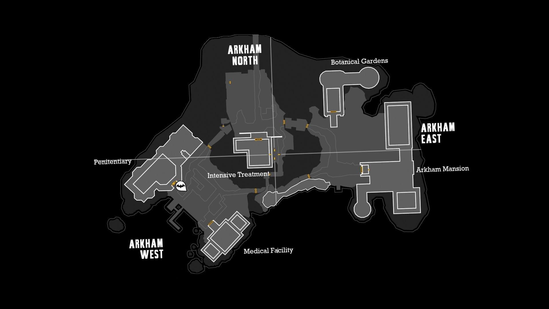 Batman film solo News My Geek Actu Arkham Map