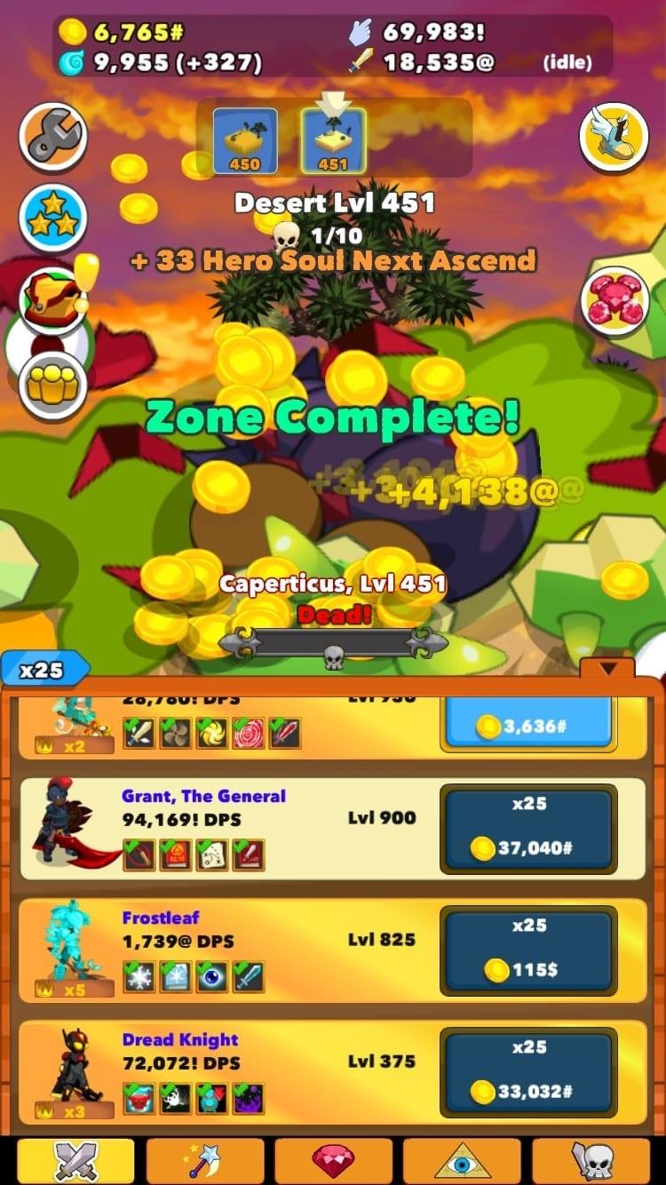 Clicker Heroes Test iOS My Geek Actu Heroes