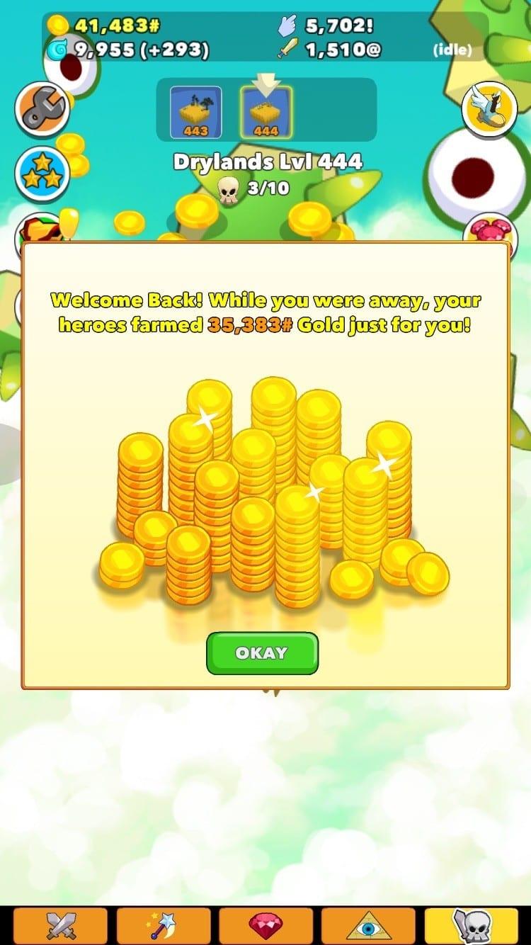 Clicker Heroes Test iOS My Geek Actu Money