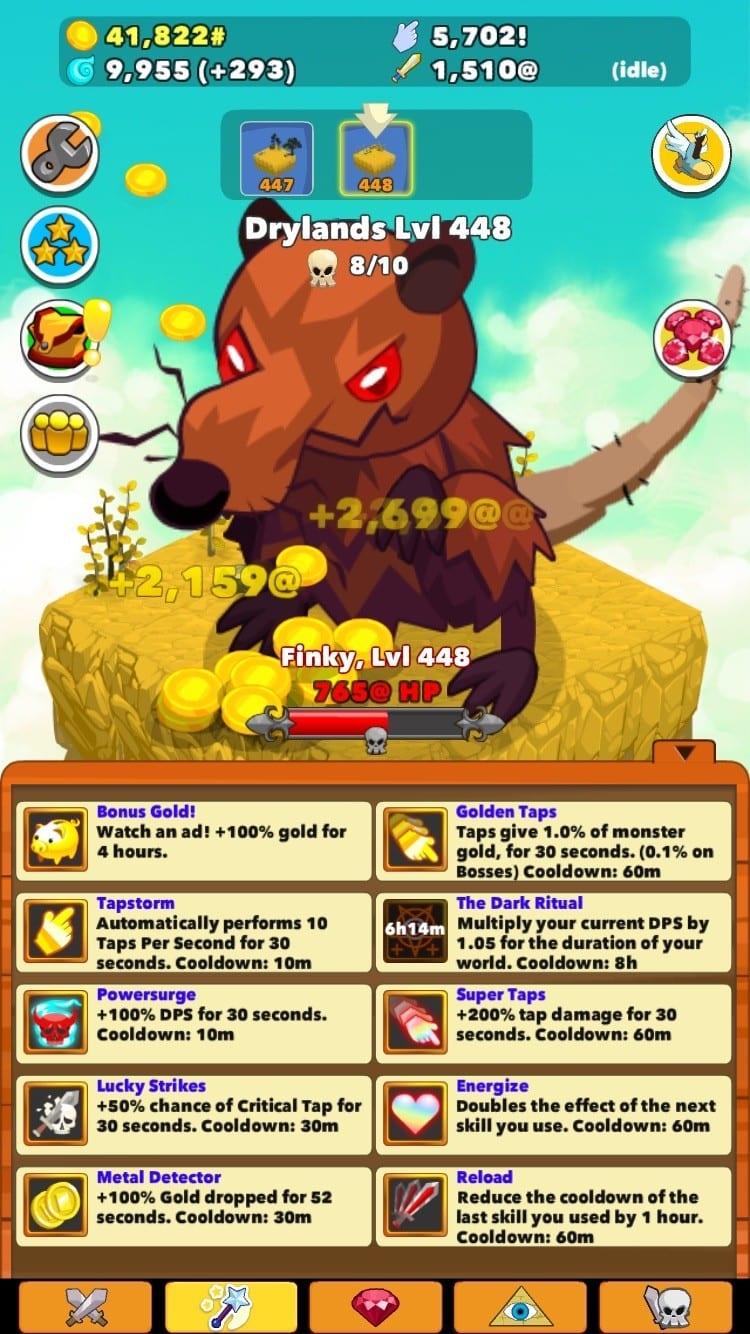Clicker Heroes Test iOS My Geek Actu Skills