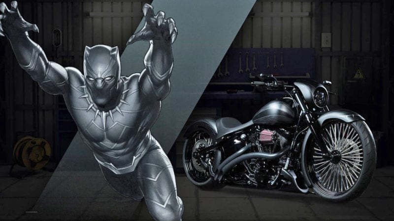 Captain Amercia 75 anniversaire News My Geek Actu Harley Davidson Black Panther 2