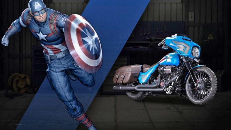 Captain Amercia 75 anniversaire News My Geek Actu Harley Davidson Captain America 2