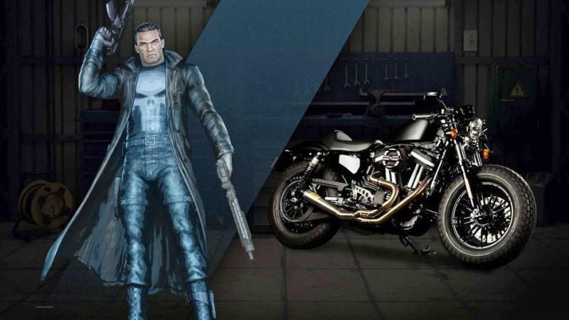 Captain Amercia 75 anniversaire News My Geek Actu Harley Davidson Punisher
