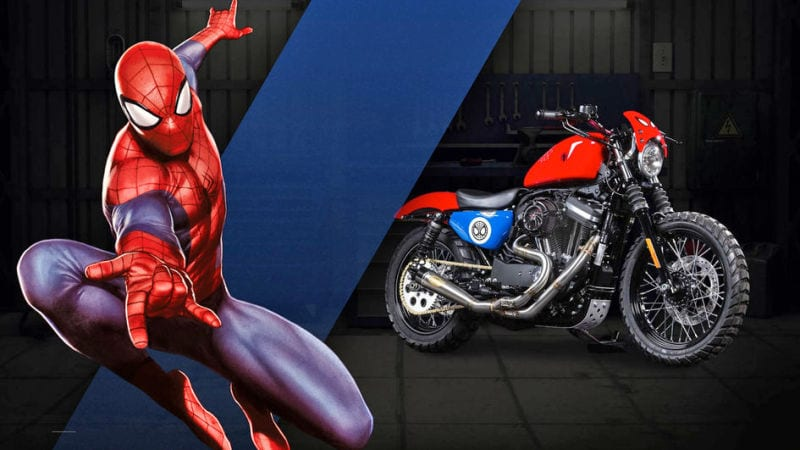 Captain Amercia 75 anniversaire News My Geek Actu Harley Davidson Spiderman