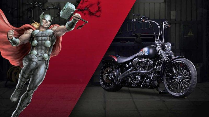 Captain Amercia 75 anniversaire News My Geek Actu Harley Davidson Thor