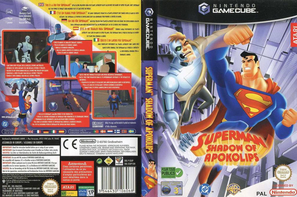 TOP 10 meilleurs jeux de super-héros Superman Shadow of Apokolips