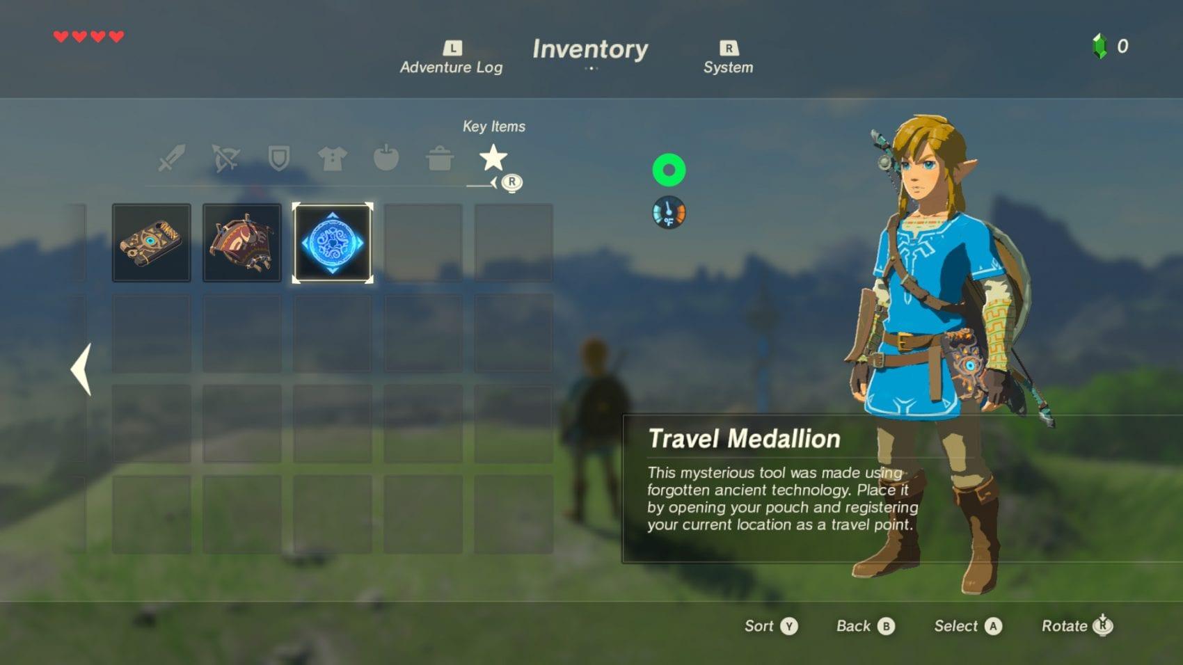 The Legend of Zelda Breath of the Wild News DLC 1 My Geek Actu Mediallon de voyage