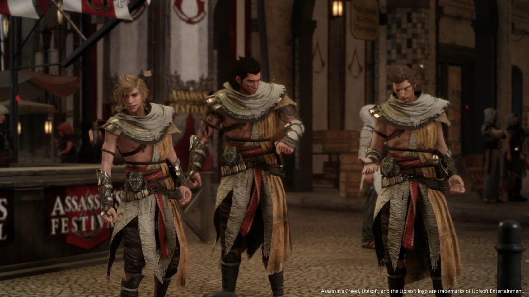 Final Fantasy XV Assassin's Creed Assassin Festival Team