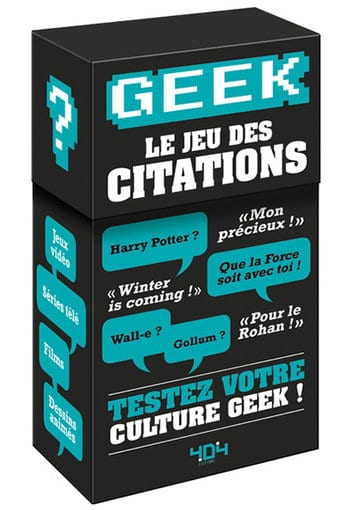 Jeu des citations My Geek Actu Geekerie Décembre