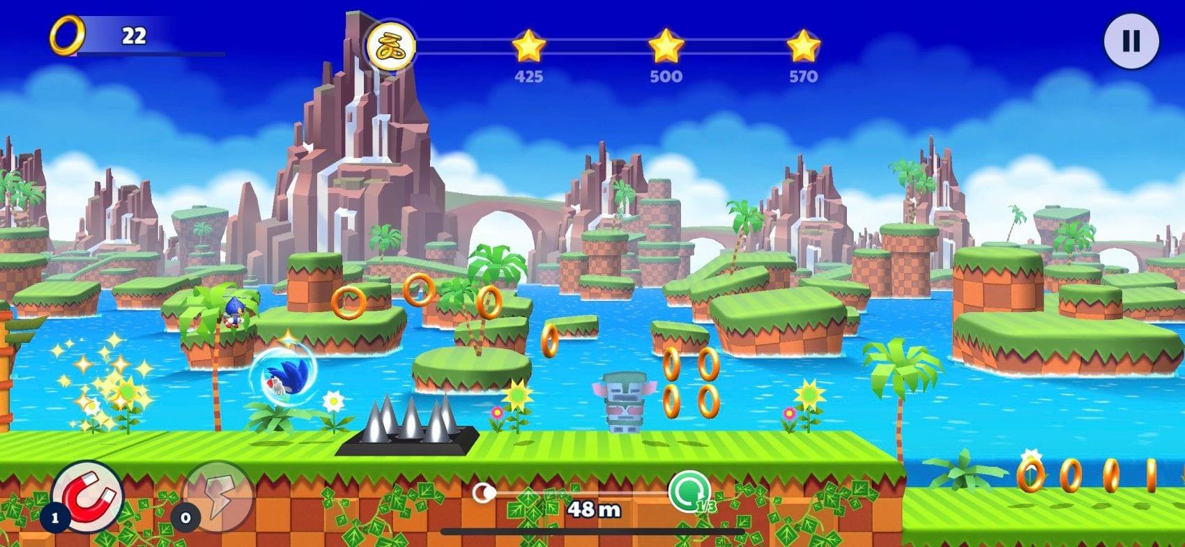 Sonic Runners Adventure Test iOS My Geek Actu Green Hill Zone