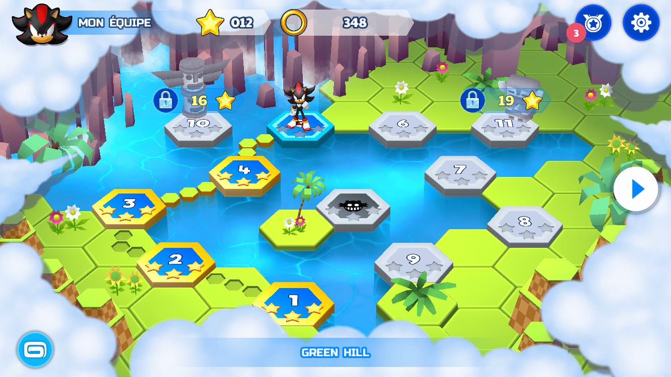 Sonic Runners Adventure Test iOS My Geek Actu Map