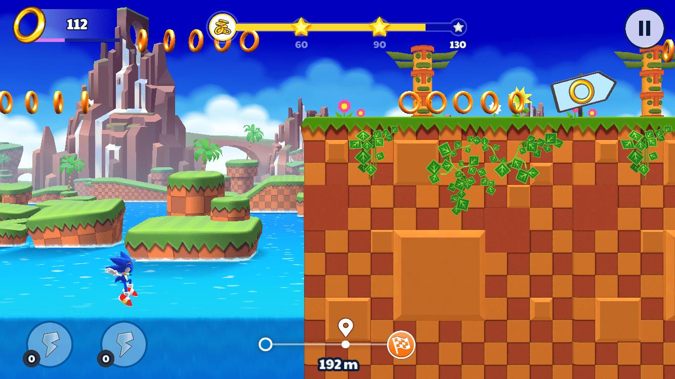 Sonic Runners Adventure Test iOS My Geek Actu Tombe