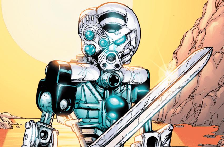 Kopaka par Carlos D'Anda, BIONICLE n°1 : L'arrivée des Toa © DC Comics